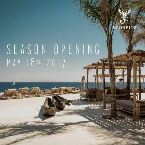 Scorpios Mykonos season opening announcement