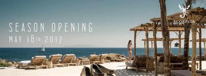Scorpios Mykonos  season opening announcement 2