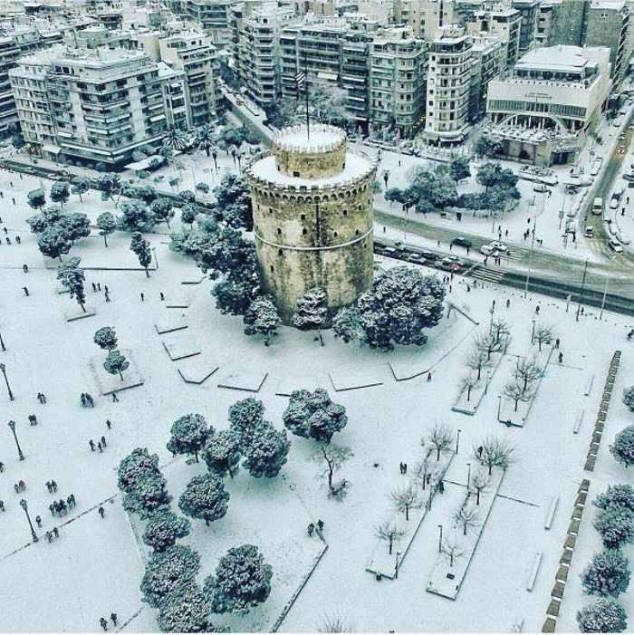 Snow at Thessaloniki