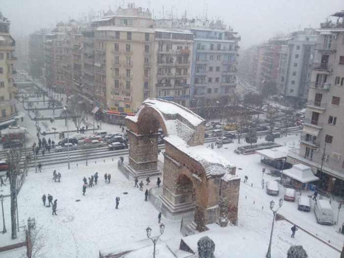 Snow in Thessaloniki