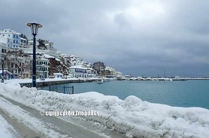Snow on Skopelos