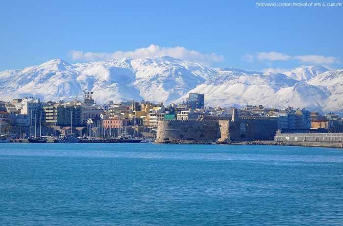 Heraklion Crete in winter 2017
