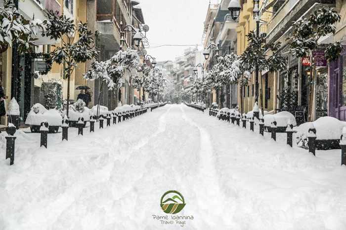 Snow in Ioannina