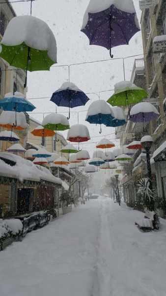 Snow in Trikala Greece
