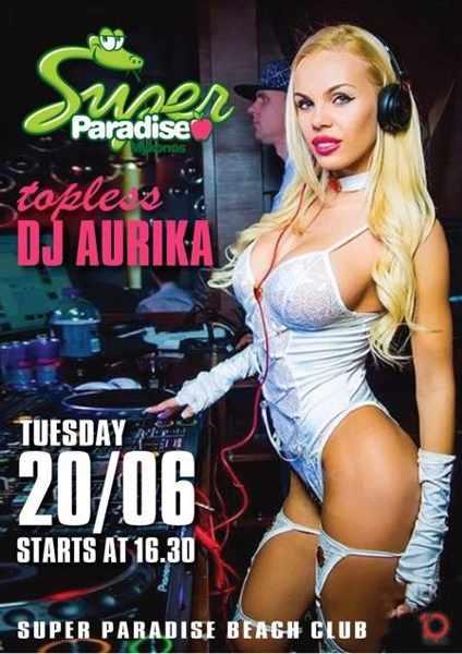 Super Paradise beach club Mykonos party event