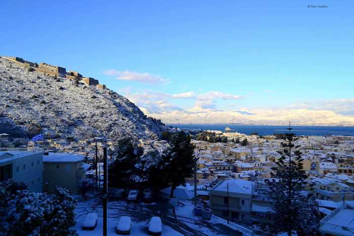 snow at Nafplio photo by Takis Vassiliou