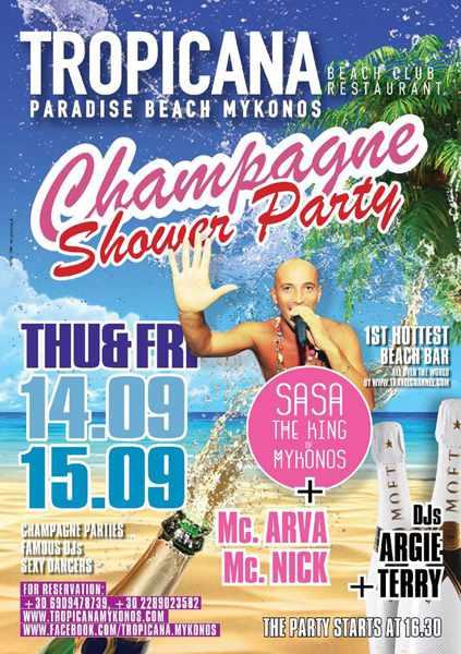 Tropicana club Mykonos party events