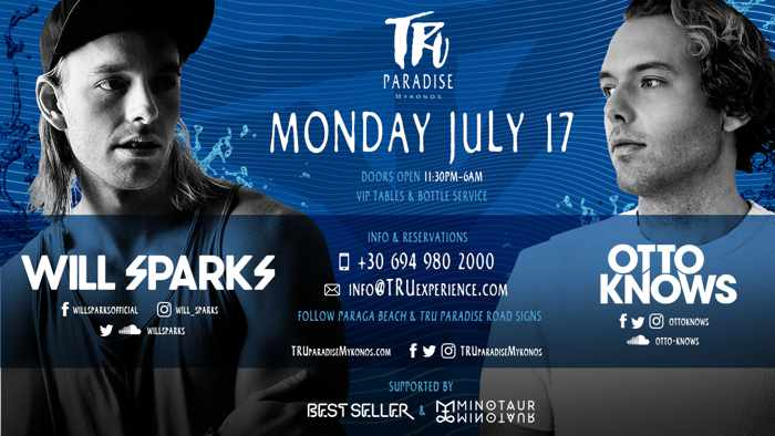 Tru Paradise beach club Mykonos party event