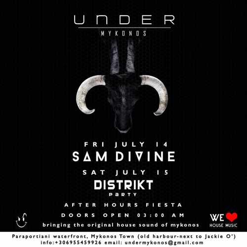 Under Mykonos after hours club July parties