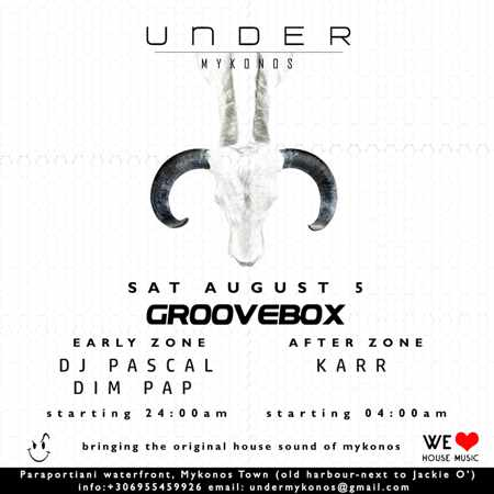 Under Mykonos club Groovebox party