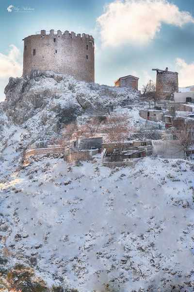 the medieval tower of Pityous on Chios island