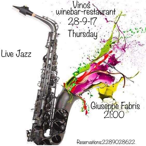 Vinos wine bar Mykonos live jazz
