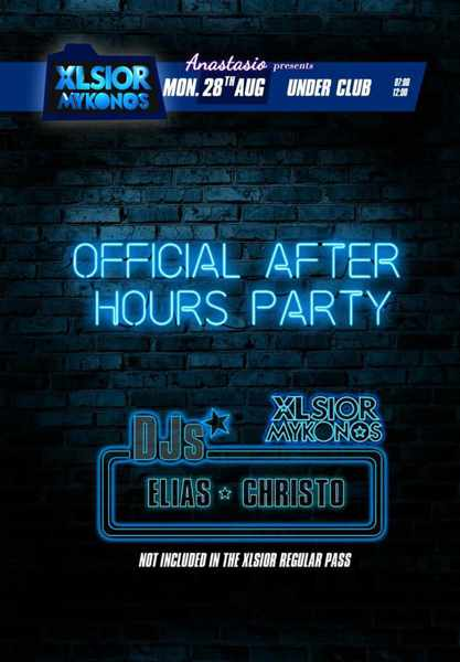 XLSIOR Festival Mykonos After Hours Party