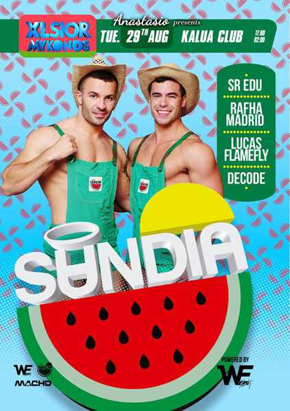 XLSIOR Festival Mykonos Sandia party