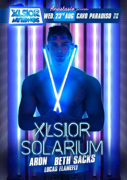 XLSIOR Mykonos Solarium party
