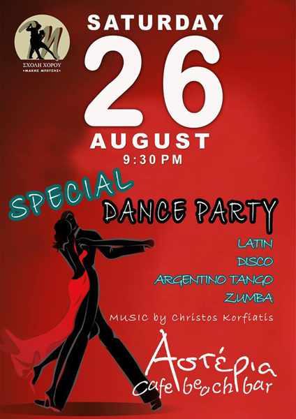 Asteria Cafe beach bar Syros party event