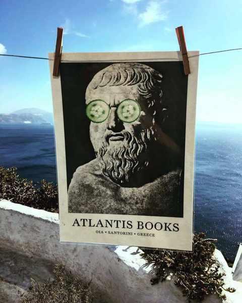 Atlantis Books in Oia Santorini