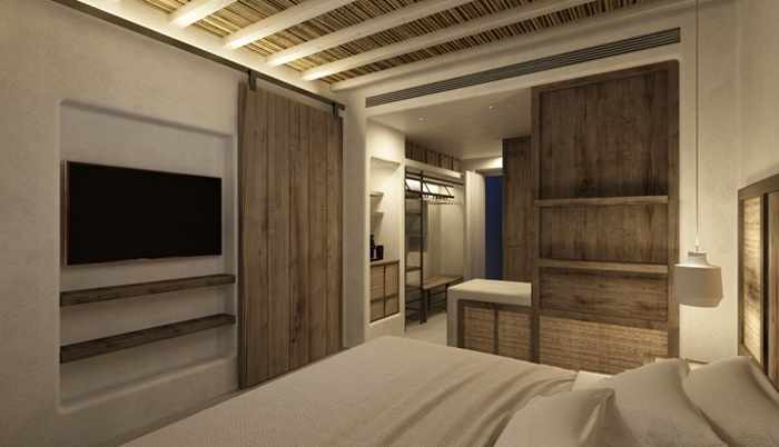 Branco Mykonos Hotel room interior