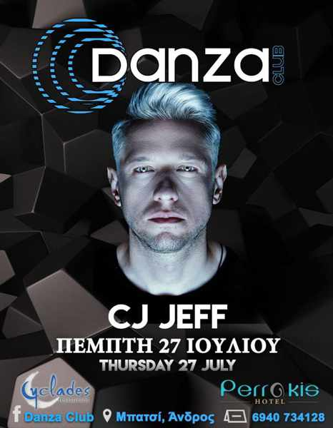 Danza Club in Batsi on Andros