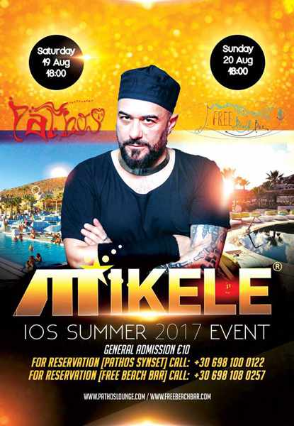 DJ Mikele shows on Ios island 2017