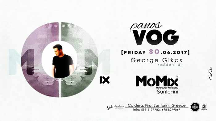 MoMix Bar Santorini party event