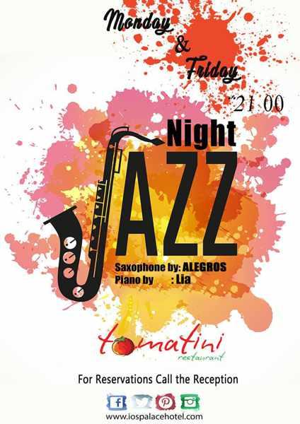 Ios Palace resort live jazz events