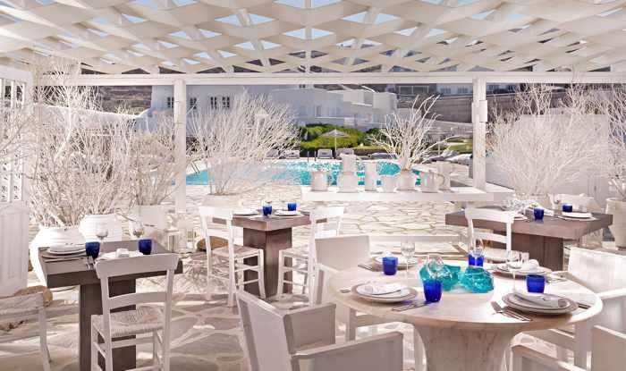 Mykonos Bay Hotel restaurant terrace