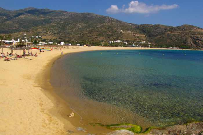 Mylopotas beach on Ios