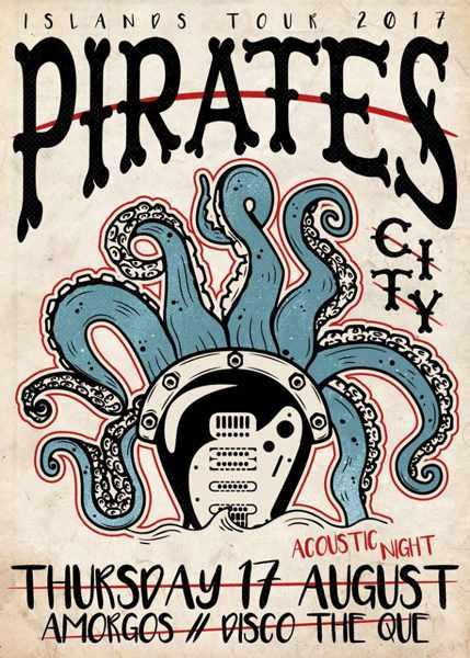 Pirates City show on Amorgos
