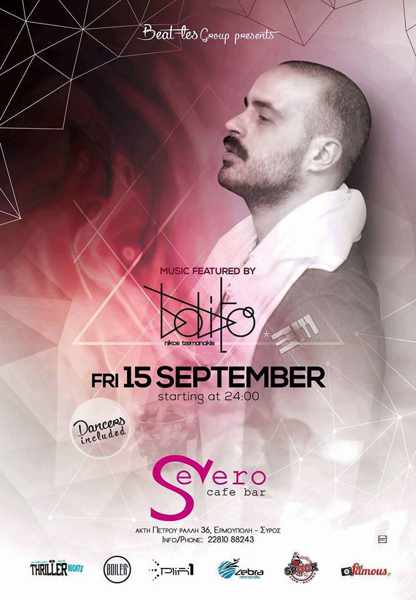 Severo Cafe Bar on Syros party event