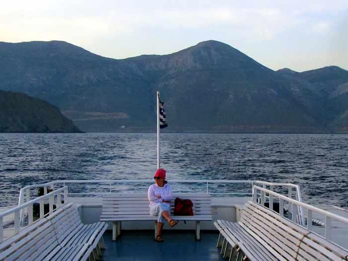 Express Skopelitis ferry passenger