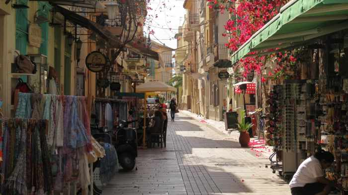 A street in the Nafplio Old Town