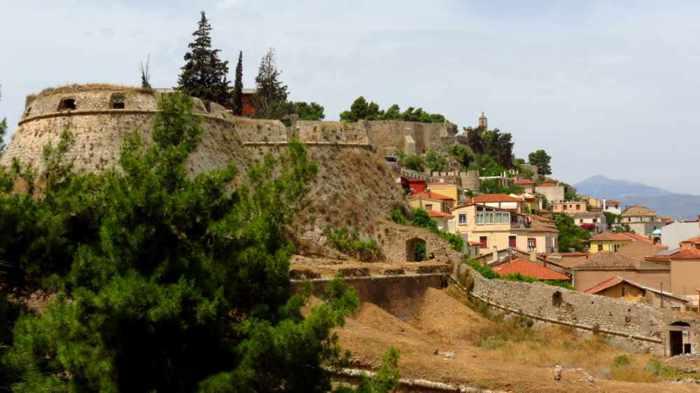 Acronauplia fortress and Nafplio Old Town