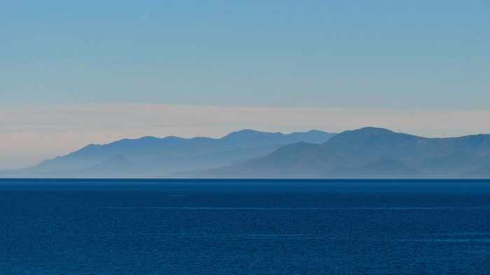Argolic Gulf and Peloponnese mountains