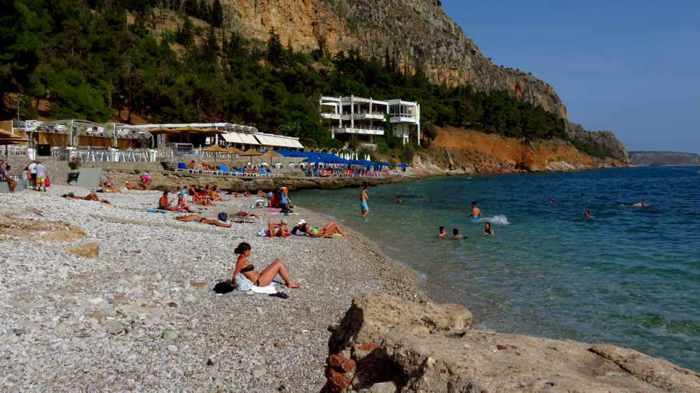 Arvanitia beach at Nafpli
