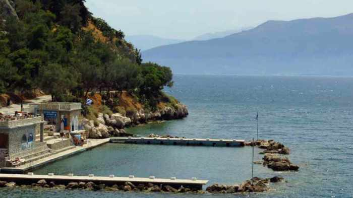 Banieres swimming area on the Nafplio seafront