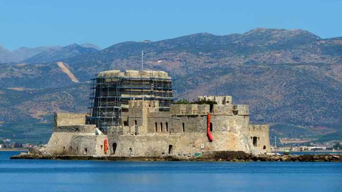 Bourtzi sea fortress at Nafplio