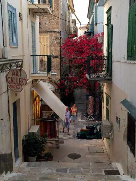a hillside lane in Nafplio