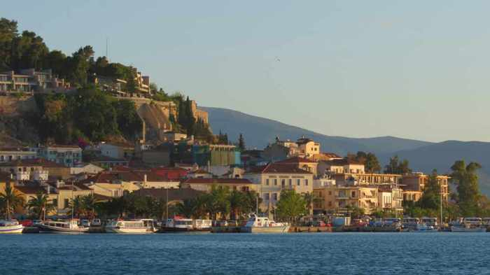 port view of the Old Town of Nafplio