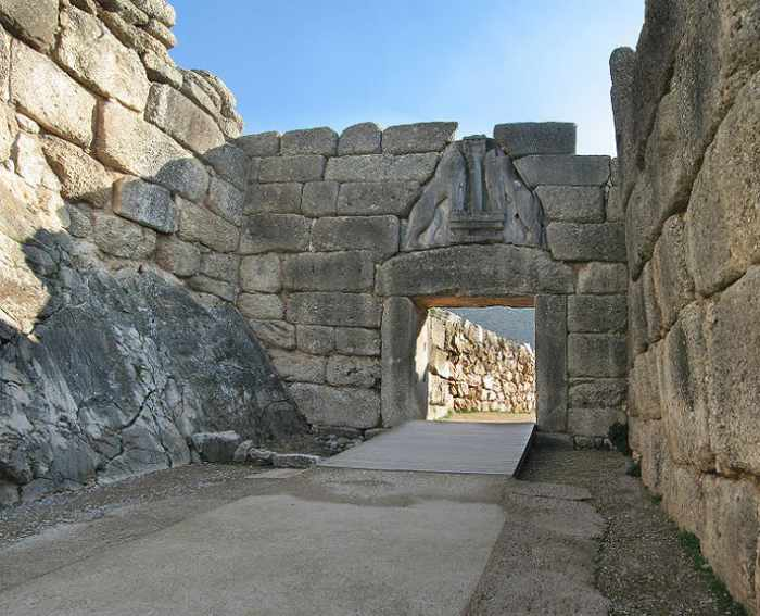 Lions Gate at Mycanae archaeological site