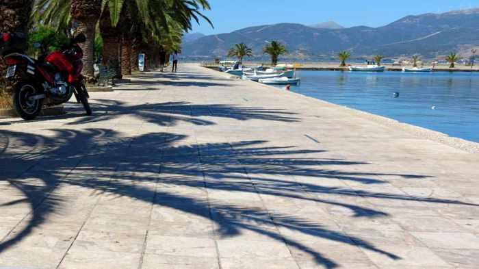 Nafplio waterfront walkway