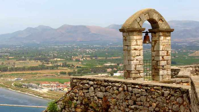 Palamidi castle belltower and