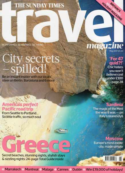 Sunday Times Travel Magazine May 2017 cover