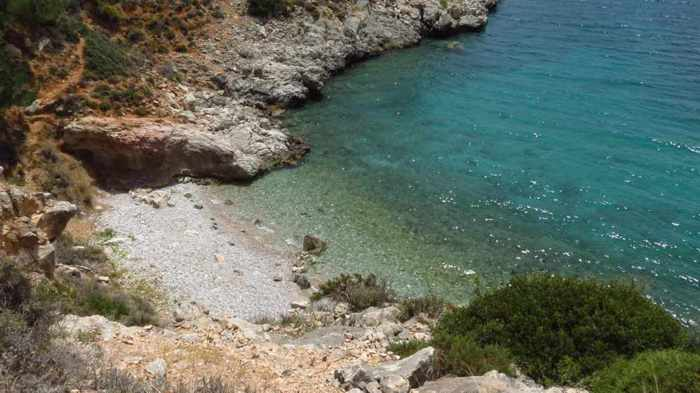 a cove near Neraki beach