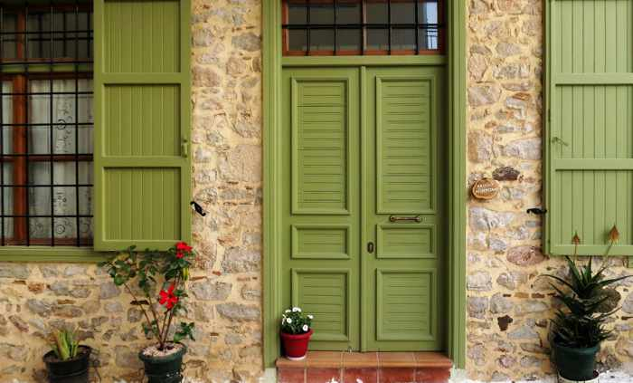 a house in the Nafplio Old Town