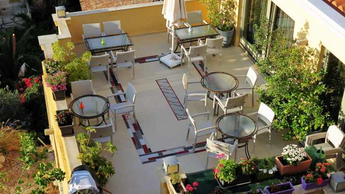 hotel rooftop terrace in Nafplio