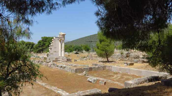 ancient Epidaurus site in Greece
