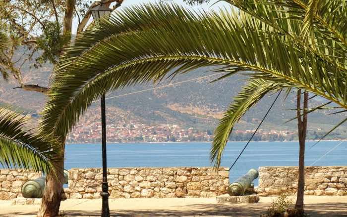 cannons on the Nafplio waterfront
