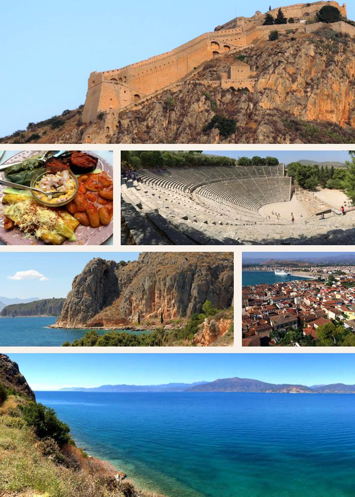 Photo montage of Nafplio sights