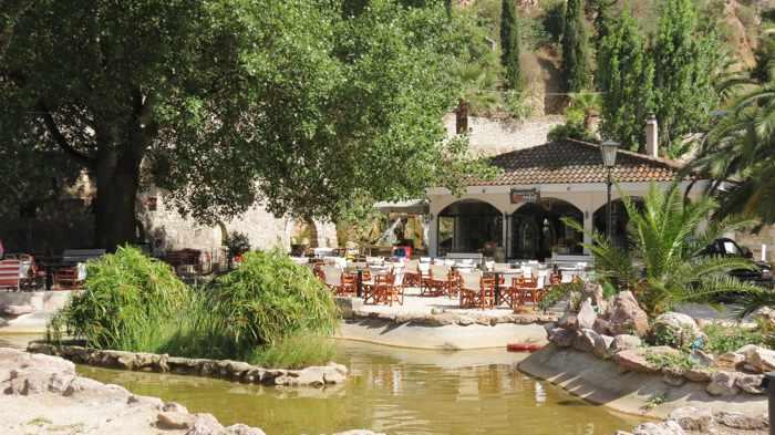 pond at Propolis Cafe in Nafpli